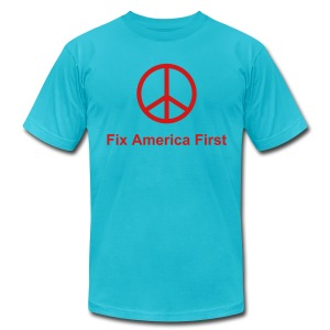 Fix America First - Men's T-Shirt by American Apparel