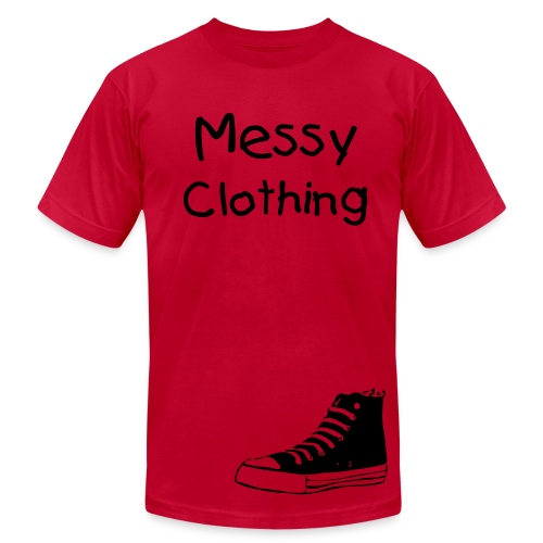 Messy Converse Graphic-Red - Men's Fine Jersey T-Shirt