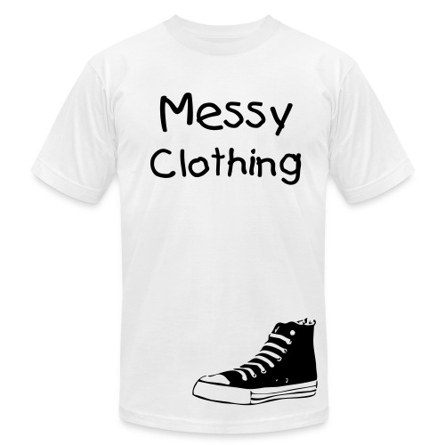 Messy Converse Graphic-White - Men's Fine Jersey T-Shirt