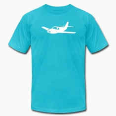 Turquoise airplane T-Shirts (Short sleeve)