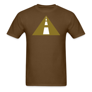 Brown road highway T-Shirts (Short sleeve)
