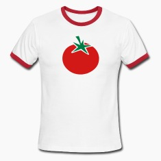 White/red tomato T-Shirts (Short sleeve)