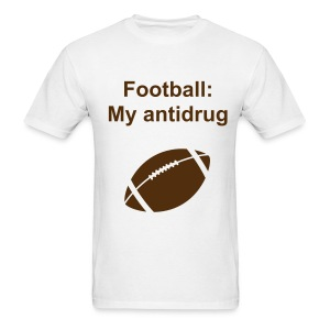 Football: My anti drug with football tee - Men's T-Shirt