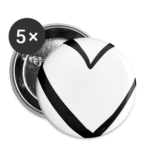 heart print - Buttons small 1'' (5-pack)