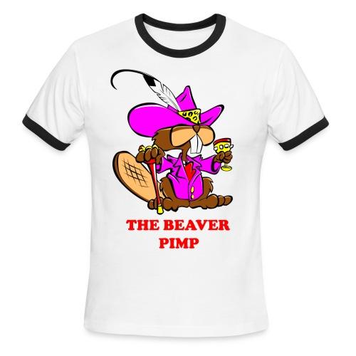The Beaver Pimp (Men) - Men's Ringer T-Shirt