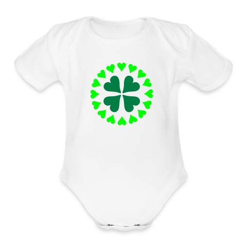 Bunch of hearts - Organic Short Sleeve Baby Bodysuit