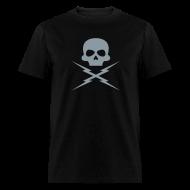 T-Shirts ~ Men's T-Shirt ~ Metallic Silver - DEATH PROOF T-SHIRT