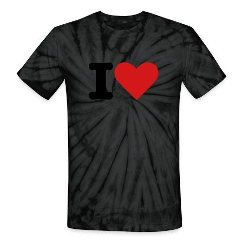 i heart tee - Unisex Tie Dye T-Shirt