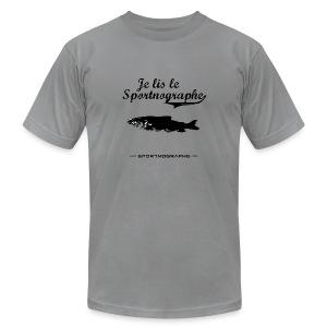 Je lis le Sportnographe - gris - T-shirt pour hommes