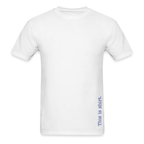 SHIRT! Alt (White) - Men's T-Shirt