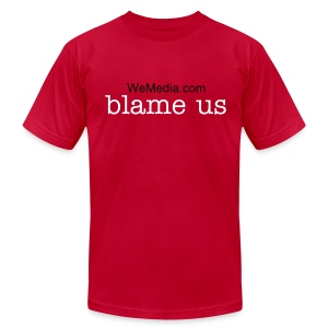 Blame Us Red - Men's Fine Jersey T-Shirt
