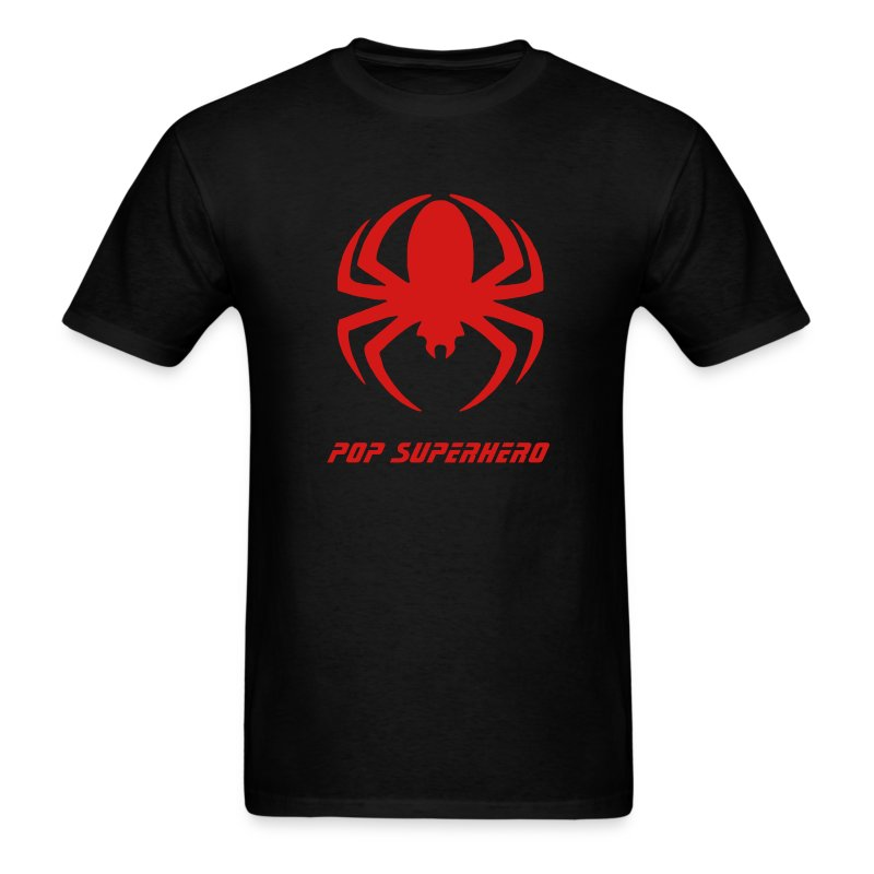 Spiderman Symbol on Black Shirt Pop Superhero - Men's T-Shirt