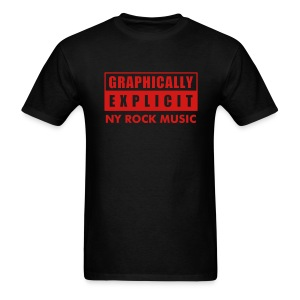 Graphically Explicit Black Shirt NY Rock Music - Men's T-Shirt