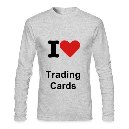 I <3 Trading Cards - Men's Long Sleeve T-Shirt by Next Level