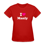 T-Shirts ~ Women's T-Shirt ~ I LOVE MANLY Dog Costume