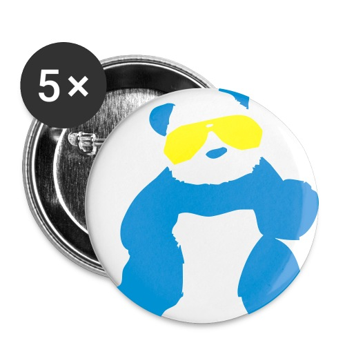 manic panic panda button  - Small Buttons