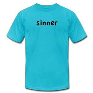 sinner - Men's T-Shirt by American Apparel