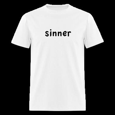 White sinner T-Shirts (Short sleeve)