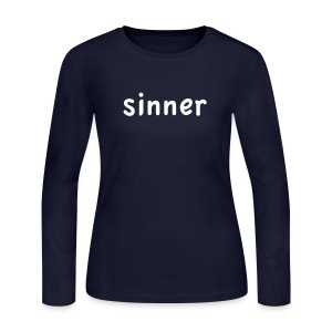 sinner - Women's Long Sleeve Jersey T-Shirt