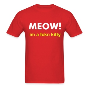 Adult MEOW kitty. - Men's T-Shirt