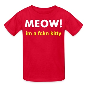 Youth MEOW kitty. - Kids' T-Shirt