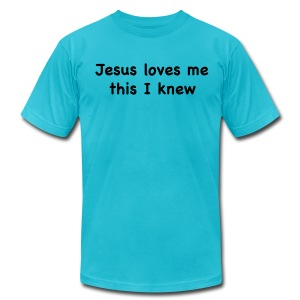 Jesus Loves Me - Men's T-Shirt by American Apparel