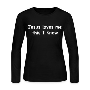 Jesus Loves Me - Women's Long Sleeve Jersey T-Shirt