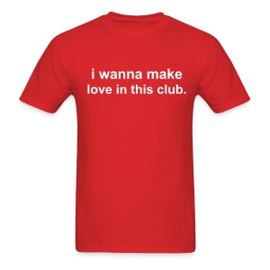 Adult love in this club  - Men's T-Shirt