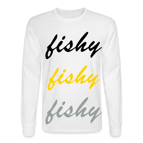 fishy repeat tee - Men's Long Sleeve T-Shirt