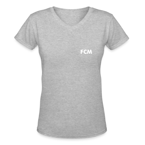 FCM Women's V-Neck DJ - Women's V-Neck T-Shirt