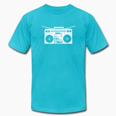 Turquoise Boombox Plot Version T-Shirts (Short sleeve)