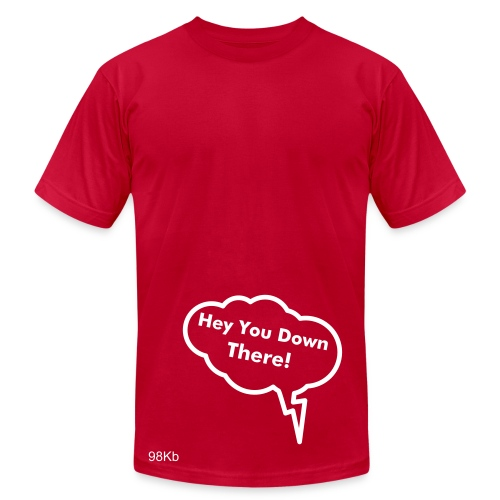 Hey You Down There! Mens - Men's Fine Jersey T-Shirt