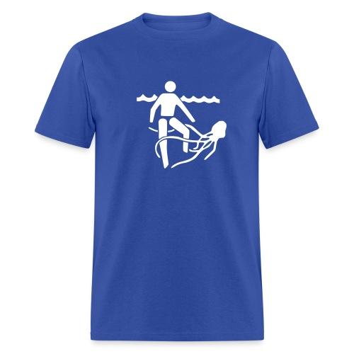 Squid/Stinger Warning - MLW - Men's T-Shirt