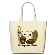 Bags & backpacks ~ Eco-Friendly Cotton Tote ~ Bring the Pain Natural Tote (Large)