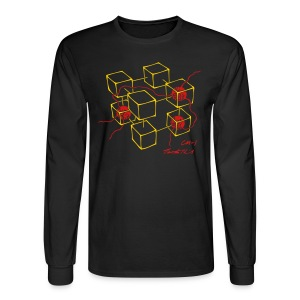 CM-1 men's long black gold/red - Men's Long Sleeve T-Shirt