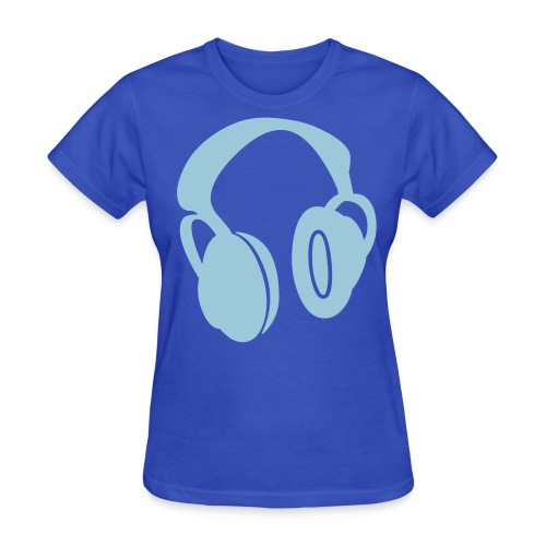 blue headphones women - Women's T-Shirt