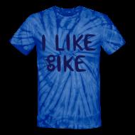 T-Shirts ~ Unisex Tie Dye T-Shirt ~ I Like Bike tiedye