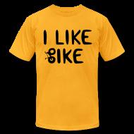 T-Shirts ~ Men's T-Shirt by American Apparel ~ I Like Bike men's tee