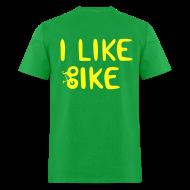 T-Shirts ~ Men's T-Shirt ~ I Like Bike men's lightweight DESIGN ON BACK!
