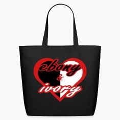 Black Ebony & Ivory With Red Heart Bags