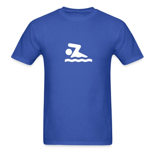 Swimming Symbol - MLW - Men's T-Shirt