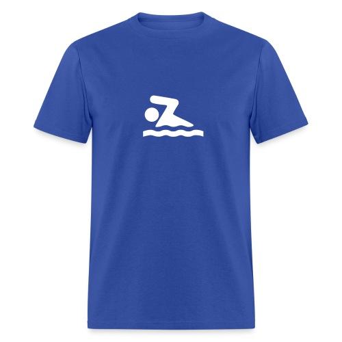 Swimming Symbol - MLW - Men's T-Shirt