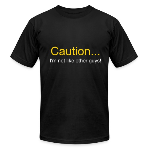caution/guys - Men's Fine Jersey T-Shirt