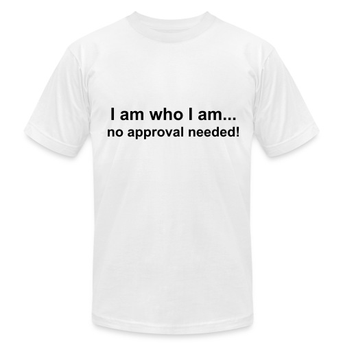 am who I am/ mens blk. - Men's Fine Jersey T-Shirt