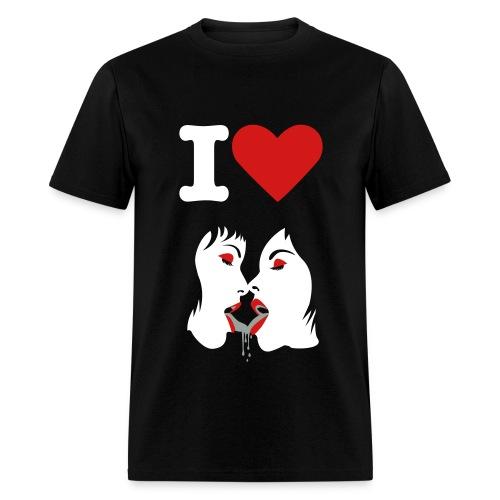 I heart Lesbians - Men's T-Shirt