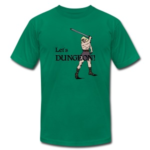 Let's Dungeon! Men's - Men's T-Shirt by American Apparel