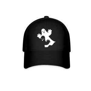 Two Ghosts On Fitted Hat Great For Halloween - Baseball Cap