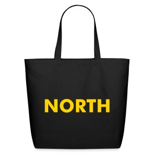 NORTH One-Sided Natural Cotton Tote - Eco-Friendly Cotton Tote