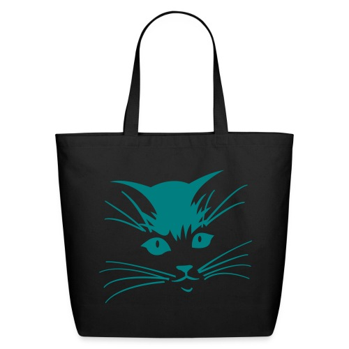 WHISKER FACE TOTE - Eco-Friendly Cotton Tote