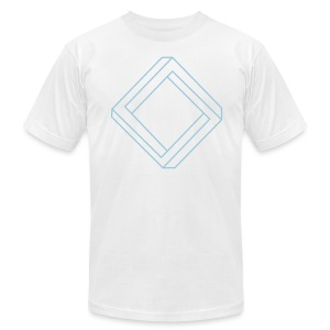 Impossible Square - Men's T-Shirt by American Apparel